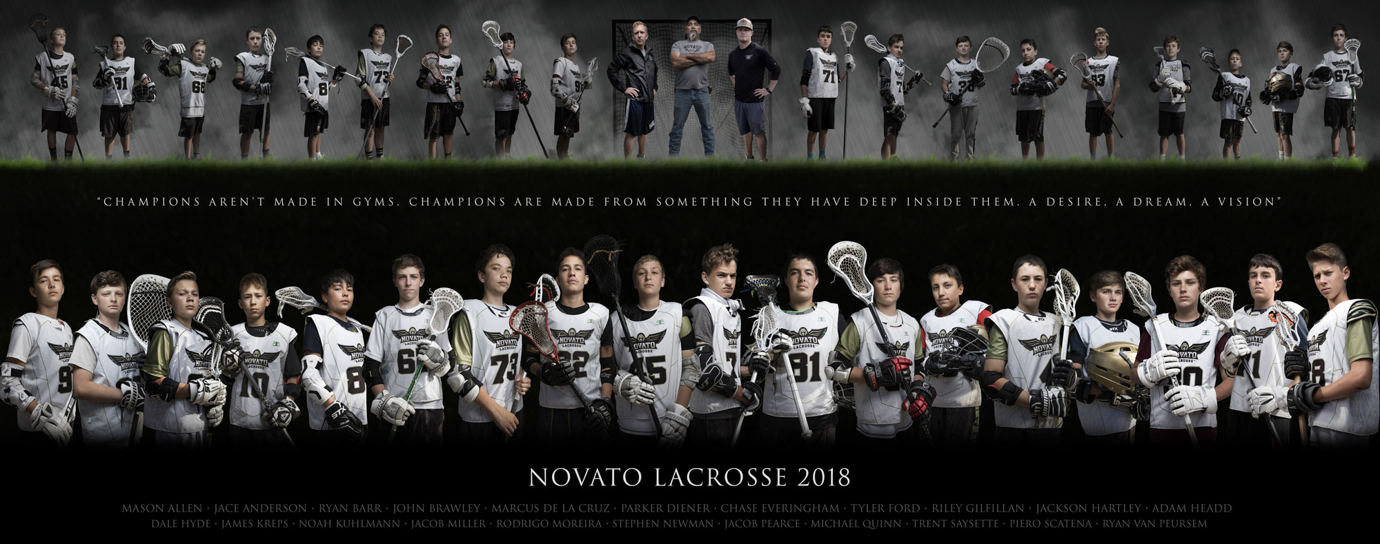 Sports photography composite
