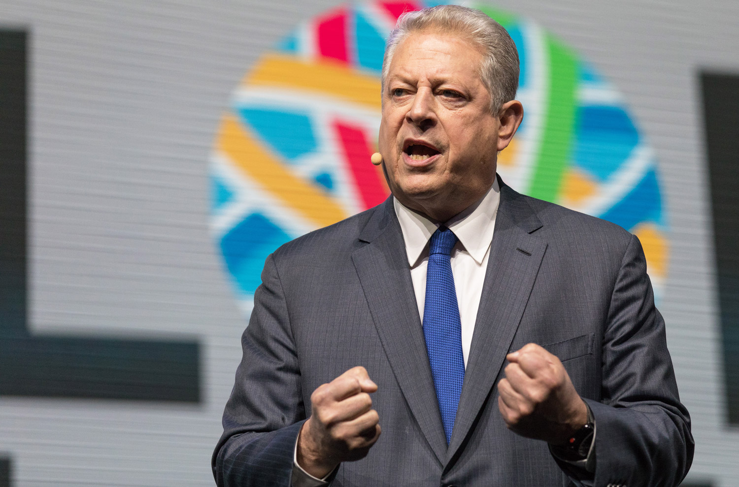 Al Gore at the San Francisco Moscone Convention Center