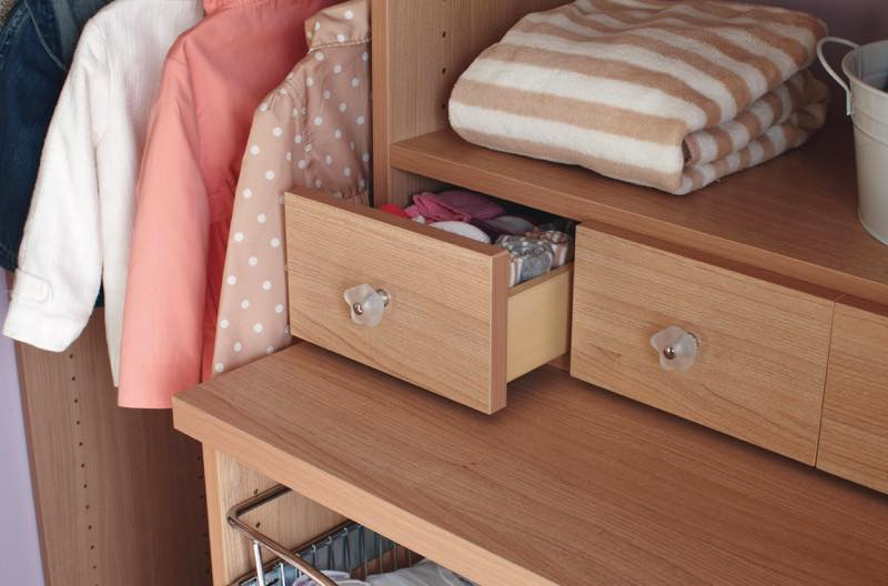 Baby Closet custom storage drawers design Mill Valley, California. Photo by Chris Constantine Photography.