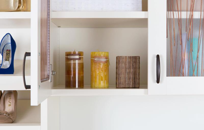 Varia Ecoresin photography candles in home bedroom closet Chris Constantine photography