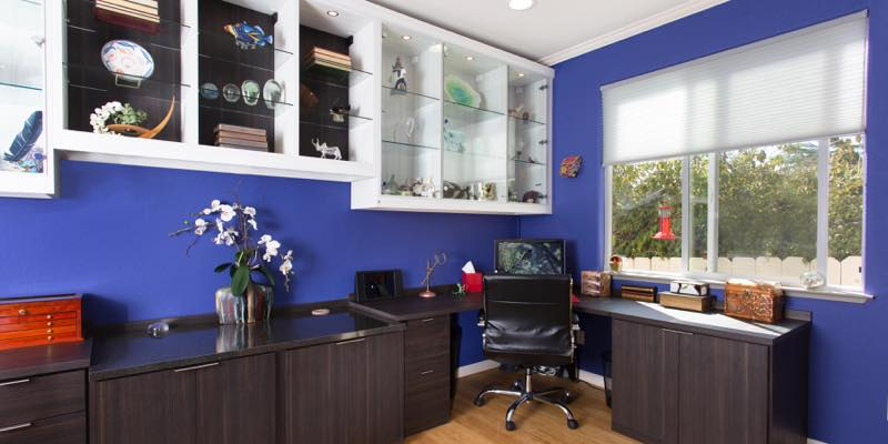 Custom built home office Half Moon Bay, CA photograph by Chris Constantine photography
